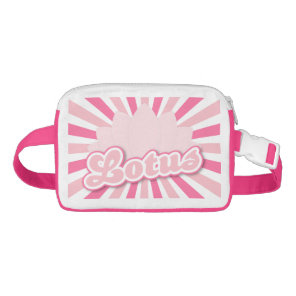 Pink Flower Lotus Waist Bag