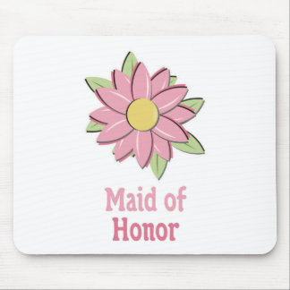Pink Flower Maid of Honor Mouse Pad