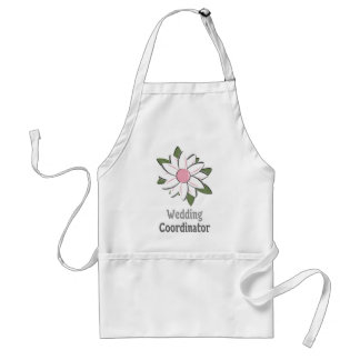 Pink Flower Male Wedding Coordinator Adult Apron