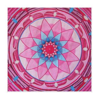 Pink flower Mandala Canvas Print