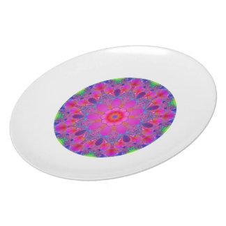 Pink Flower Mandala Dinner Plate