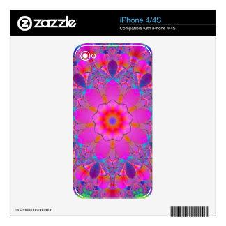 Pink Flower Mandala Skins For iPhone 4