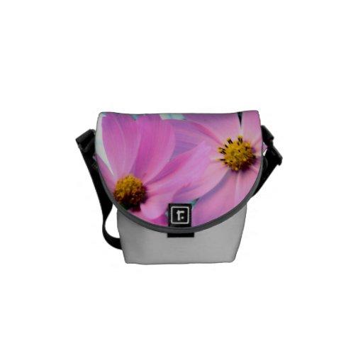 Pink Flower Mini Messenger Bag
