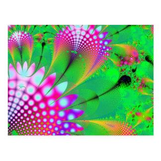 Pink Flower modern abstract art fractal Postcard