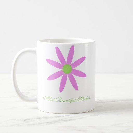 Pink Flower Most Beautiful Mother Mug