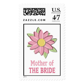 Pink Flower Mother of the Bride Postage Stamp