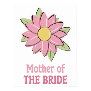 Mother of the bride postcards mother of the bride post cards pink flower mother of the bride postcard m4hsunfo