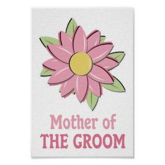 Pink Flower Mother of the Groom  Print