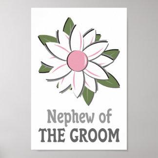 Pink Flower Nephew of the Groom  Print