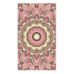 Pink Flower of Love - Mandala Business Card