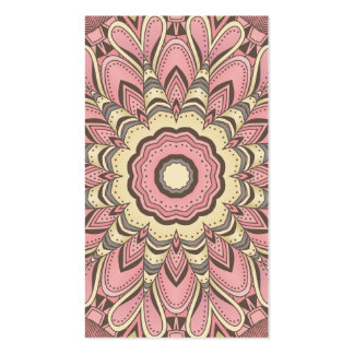 Pink Flower of Love - Mandala Business Cards