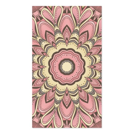 Pink Flower of Love - Mandala Business Cards