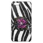 Pink Flower on Zebra Cover For iPhone 5C