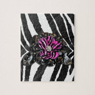 Pink Flower on Zebra Puzzles