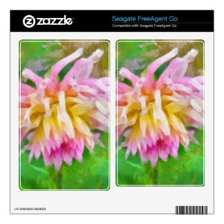 Pink flower painting skin for FreeAgent go