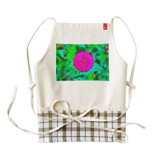 Pink flower painting zazzle HEART apron