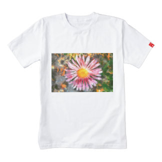 Pink flower painting zazzle HEART T-Shirt