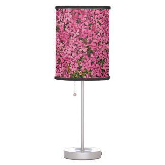 Pink flower patch table lamps