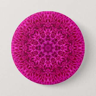 Pink Flower Pattern  Buttons, square or round Button
