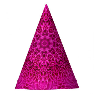 Pink Flower Pattern  Custom Party Hat