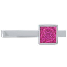 Pink Flower Pattern     Custom Tie Bars