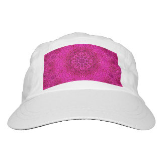 Pink Flower Pattern Custom Woven Performance Hat