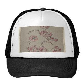 Pink Flower Pattern - French Trucker Hat