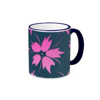 Pink Flower Pattern Mug