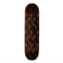 Pink Flower Pattern Skateboard Deck