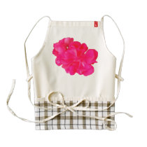 Pink Flower Pattern Zazzle HEART Apron