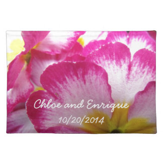 Pink Flower Personalized Wedding Place Mats