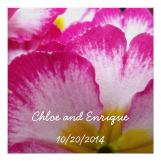 Pink Flower Personalized Wedding Perfect Poster