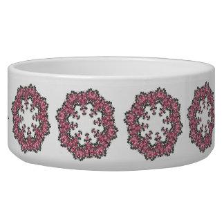 Pink Flower Pet Bowl