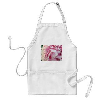 pink flower petals apron