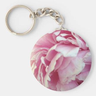 pink flower petals key chains