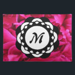 """Pink Flower Petals Monogram Placemat<br><div class=""""desc"""">This captivatingly beautiful,  full-color print is completely customizable for anyone or anywhere.</div>"""