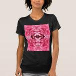 Pink Flower Petals Symmetrical Design Tshirt