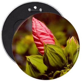 Pink Flower Photo Badge Pinback Button