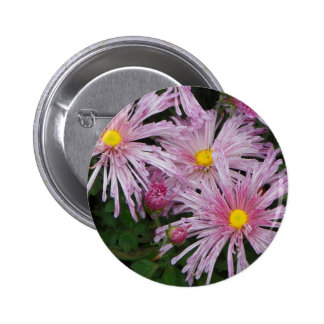 Pink Flower Photo Gift Button