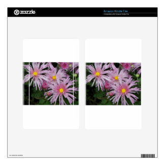Pink Flower Photo Gift Decal For Kindle Fire