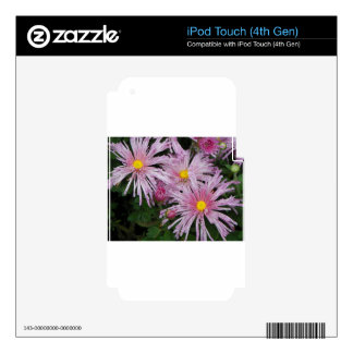 Pink Flower Photo Gift Skins For iPod Touch 4G