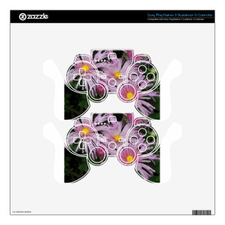 Pink Flower Photo Gift Skins For PS3 Controllers