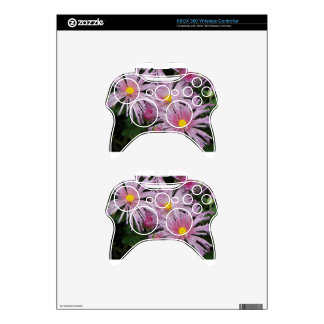 Pink Flower Photo Gift Xbox 360 Controller Decal