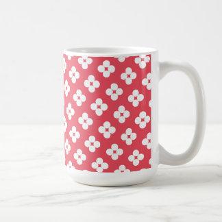 Pink Flower Polka Dot Pattern Mug