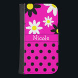 "Pink Flower &amp; Polka Dot Wallet Phone Case<br><div class=""desc"">Pink Flower &amp; Polka Dot Wallet Phone Case</div>"