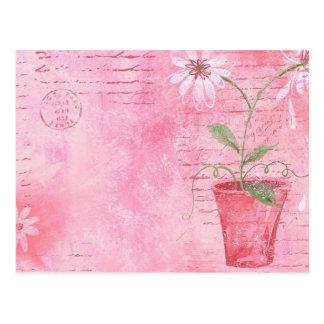 Pink, Flower Postcard