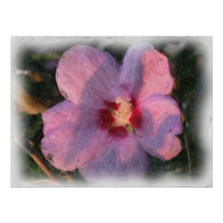 Pink Flower Poster print