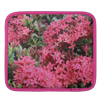 Pink Flower Power iPad Sleeve