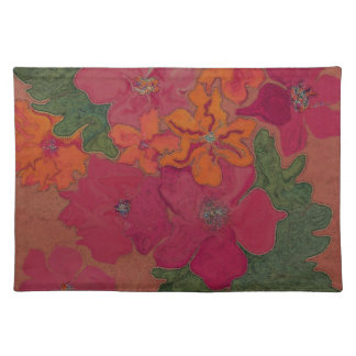 pink flower power mojo placemat