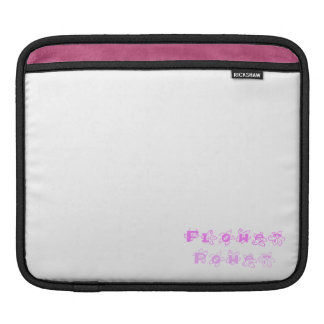 Pink Flower Power Sleeve For iPads